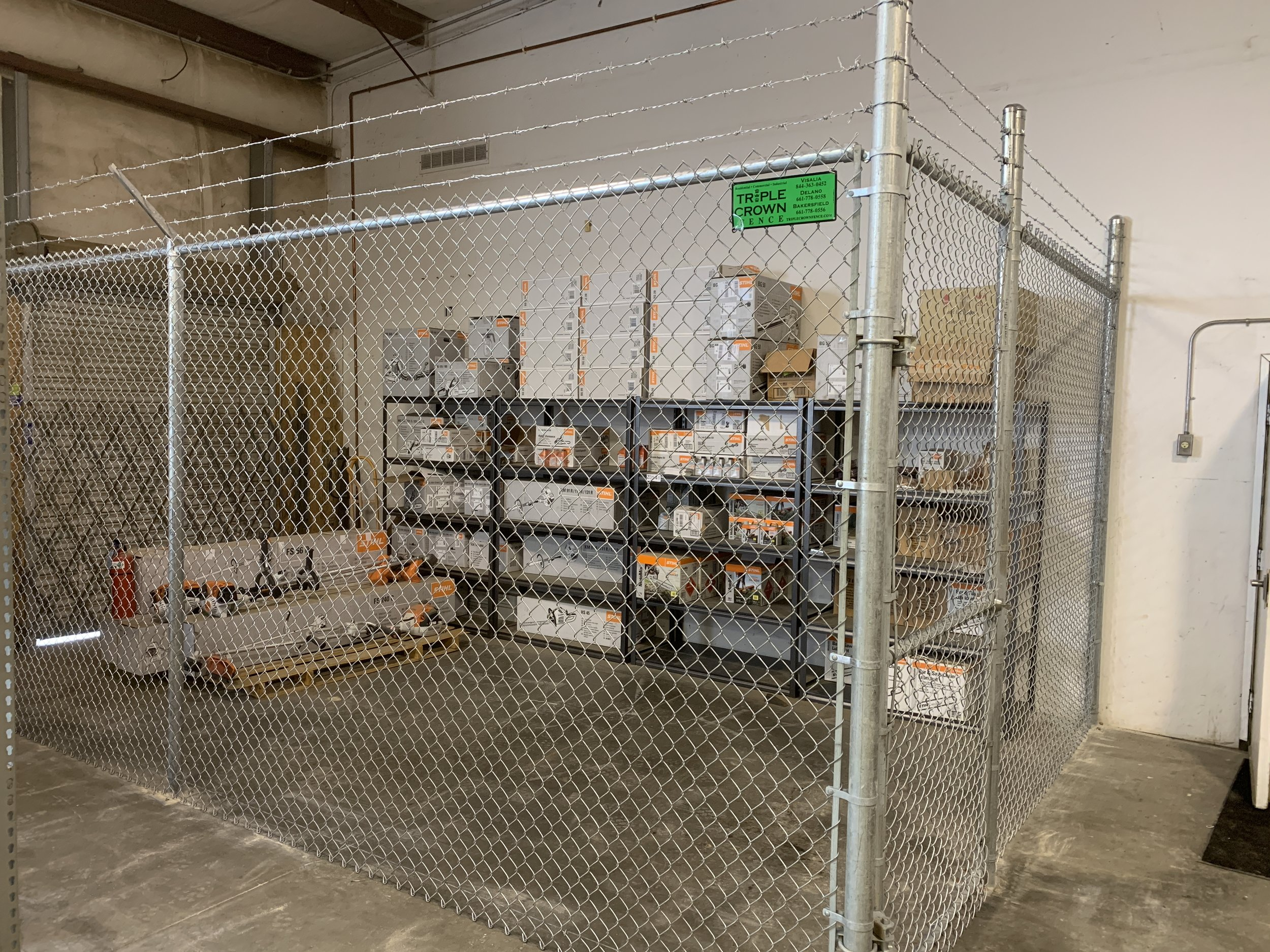 Retail Merchandise Cage with Barbed Wire