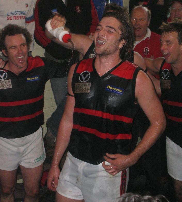 Lucas Harry celebrates the win.