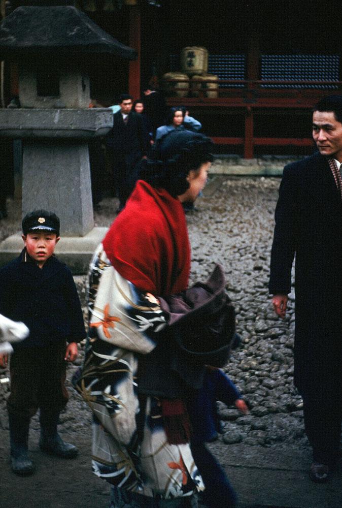 133- Street Scene with Family