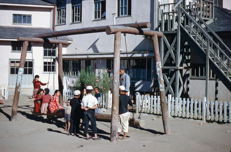 25- School Yard Swing
