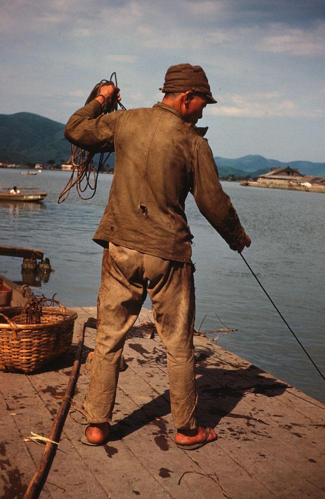 32- Fishing from Dock, Kyukitakami River?