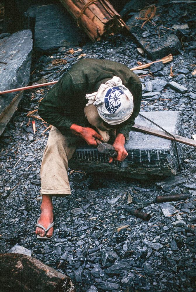 353-Man Shaping Stone Block