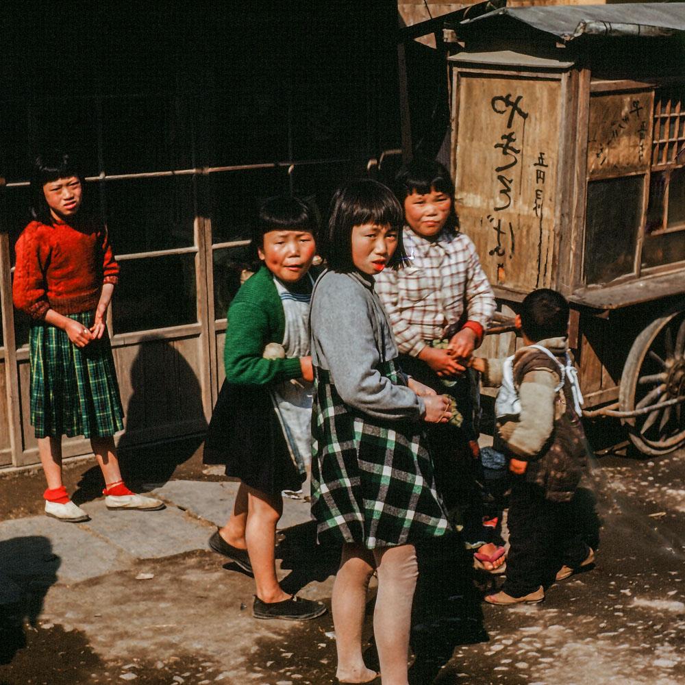 358- Girls Next to Cart