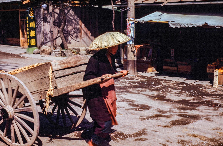 367-Man Pulling Cart