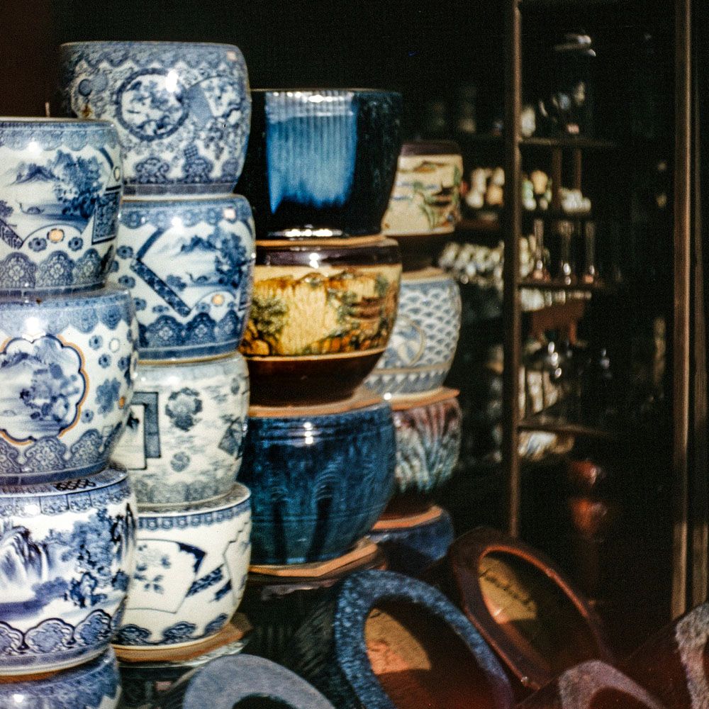 390-Display of Pottery in Shop Window