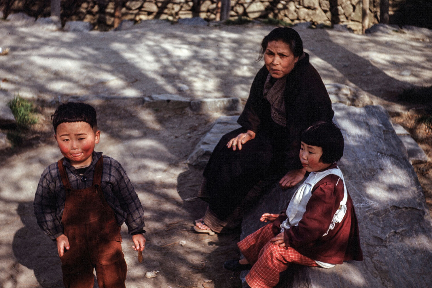 393-Woman with two small Children