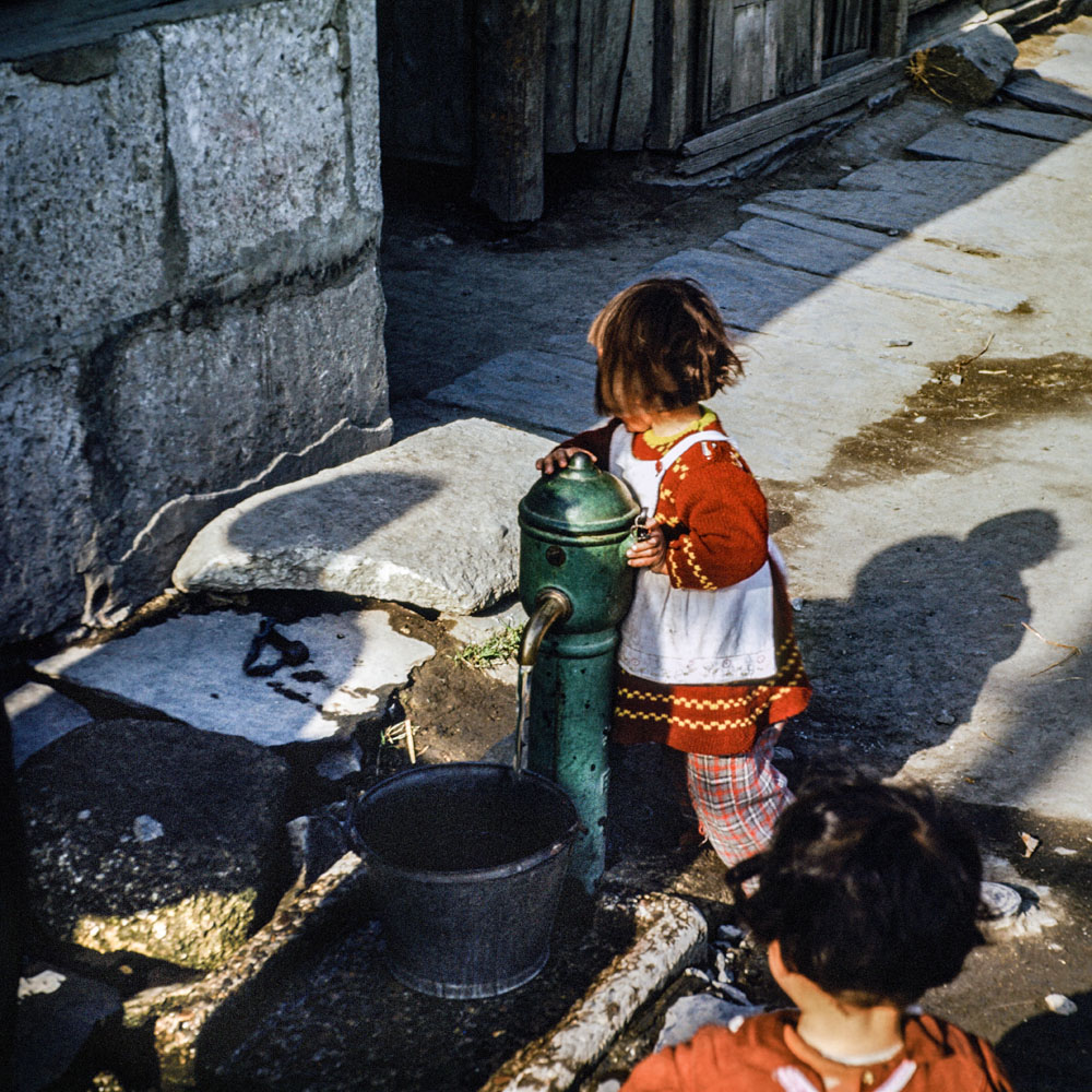 403- Small Girl at Public Hydrant
