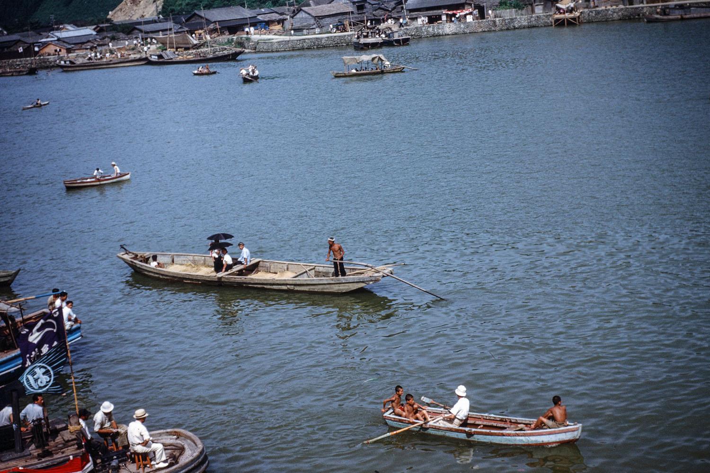 428- Kyukitakami River, Boats on River for ? Event