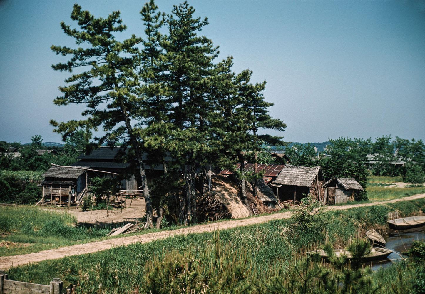 434- Farm House, Along Kitakami Canal?