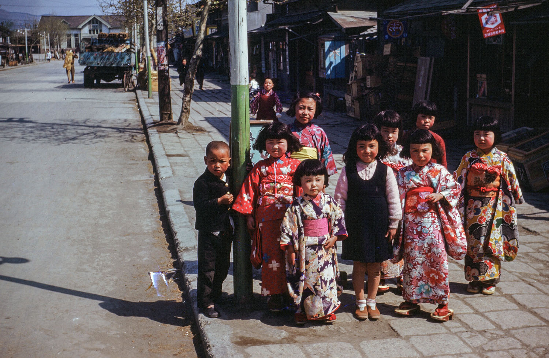466- Group of Children on Street Near Ishinomaki Station- thank you Tomoko Suzuki