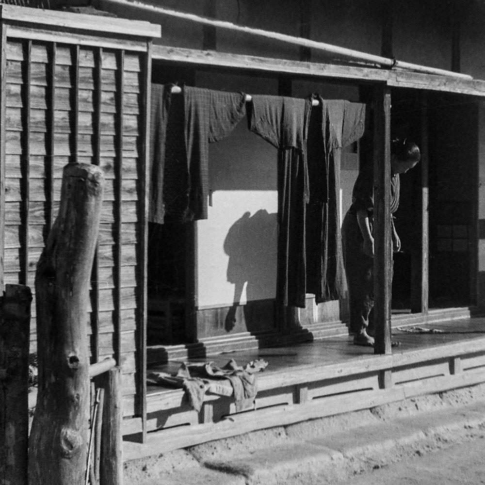 533-Woman on Engawa of House