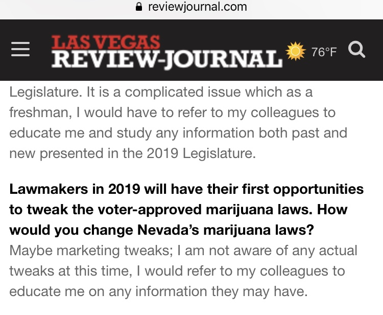 This is not the answer one would expect from a representative working on behalf of their constituents. Tony T. Smith was born and raised in Las Vegas and as a result has a clear vision on how best to help working and middle class Nevadans.