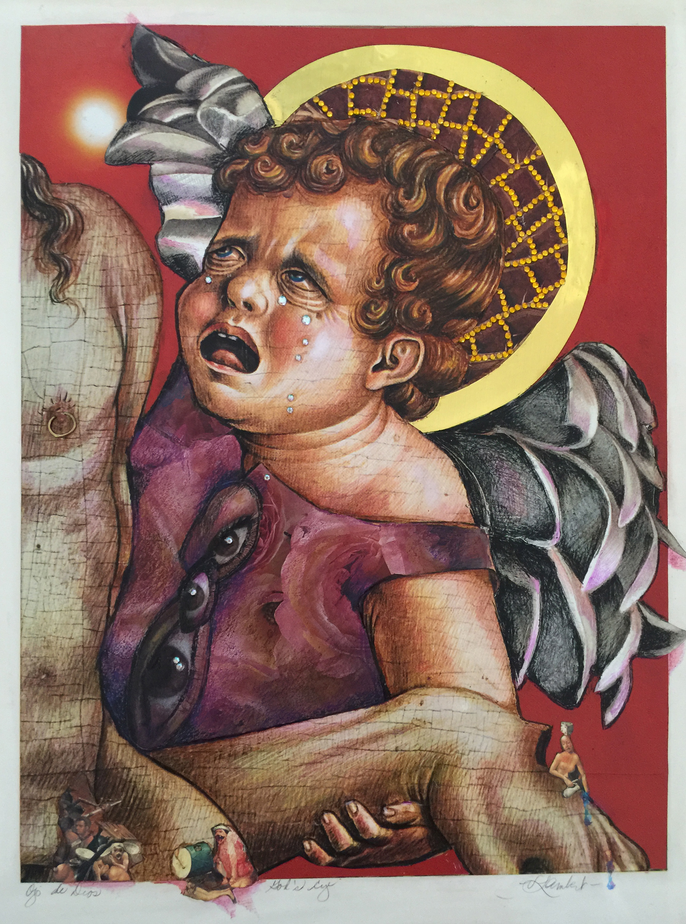 "The Eye of God, 8-1/2 x 10"""
