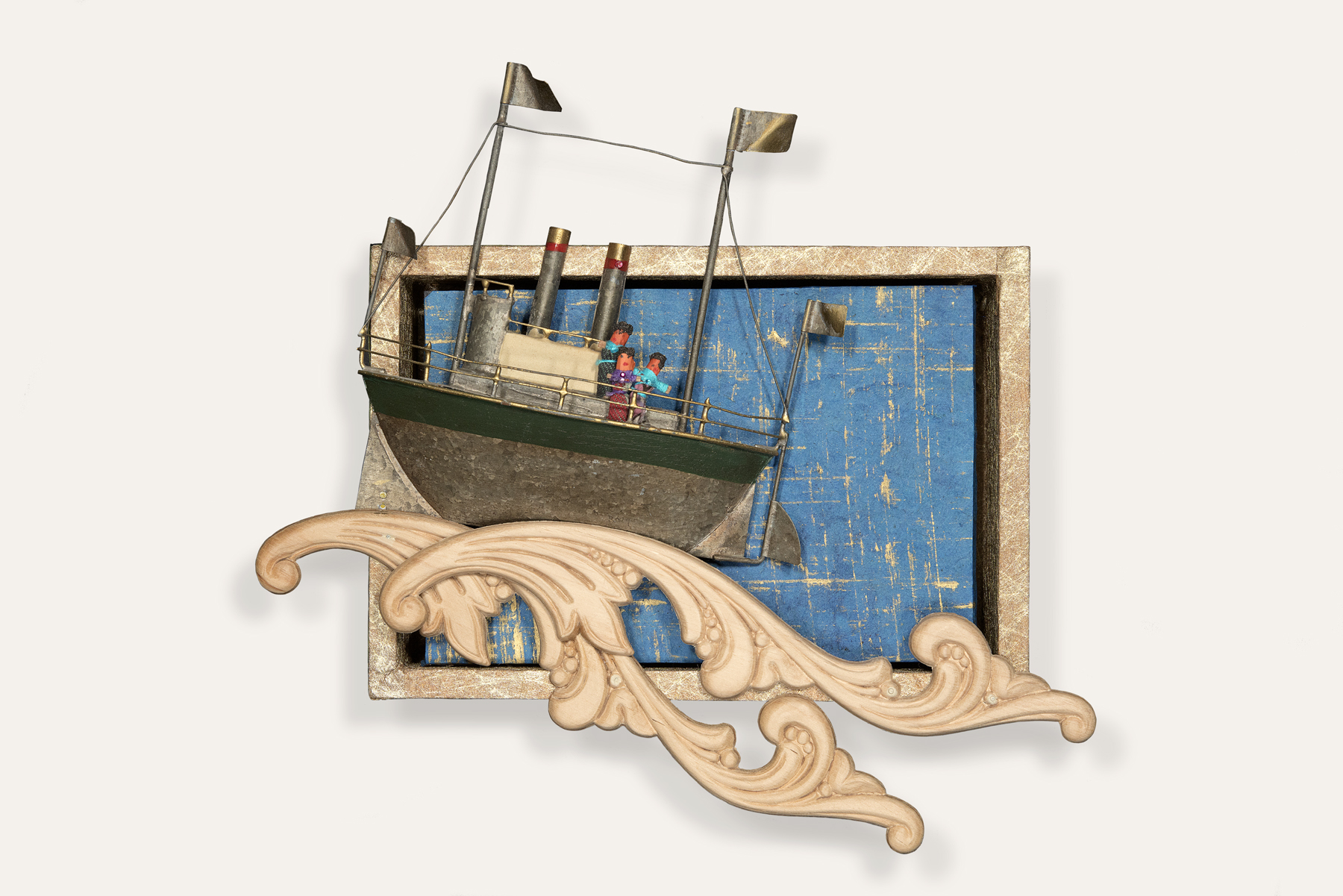 "Troubles at Sea, 9 x 8 x 2"""