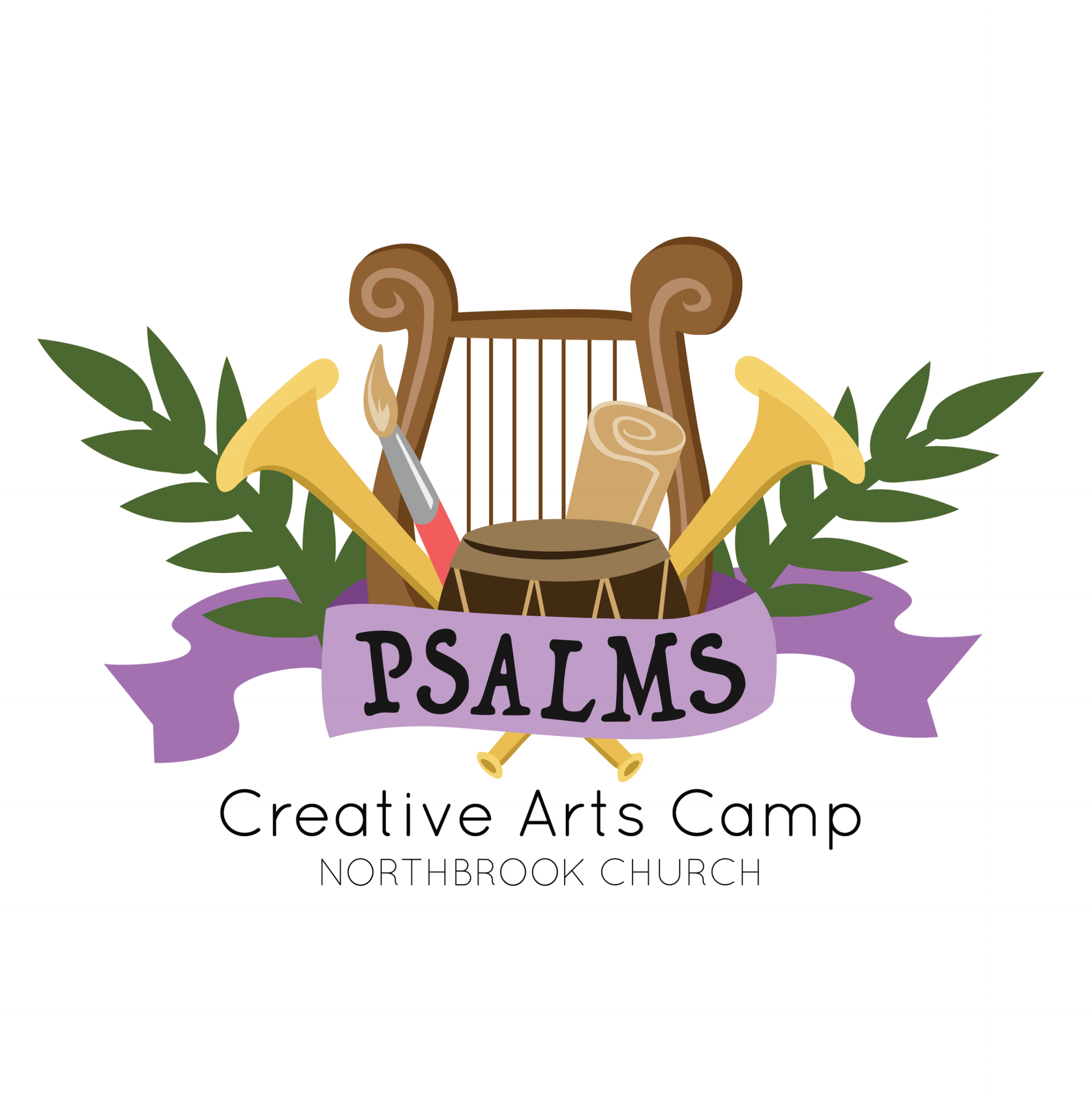 Creative Arts Camp Logo & Lanyard