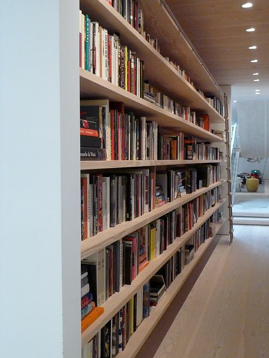 Bookcase - 27 ft Full Plank Douglas Fir