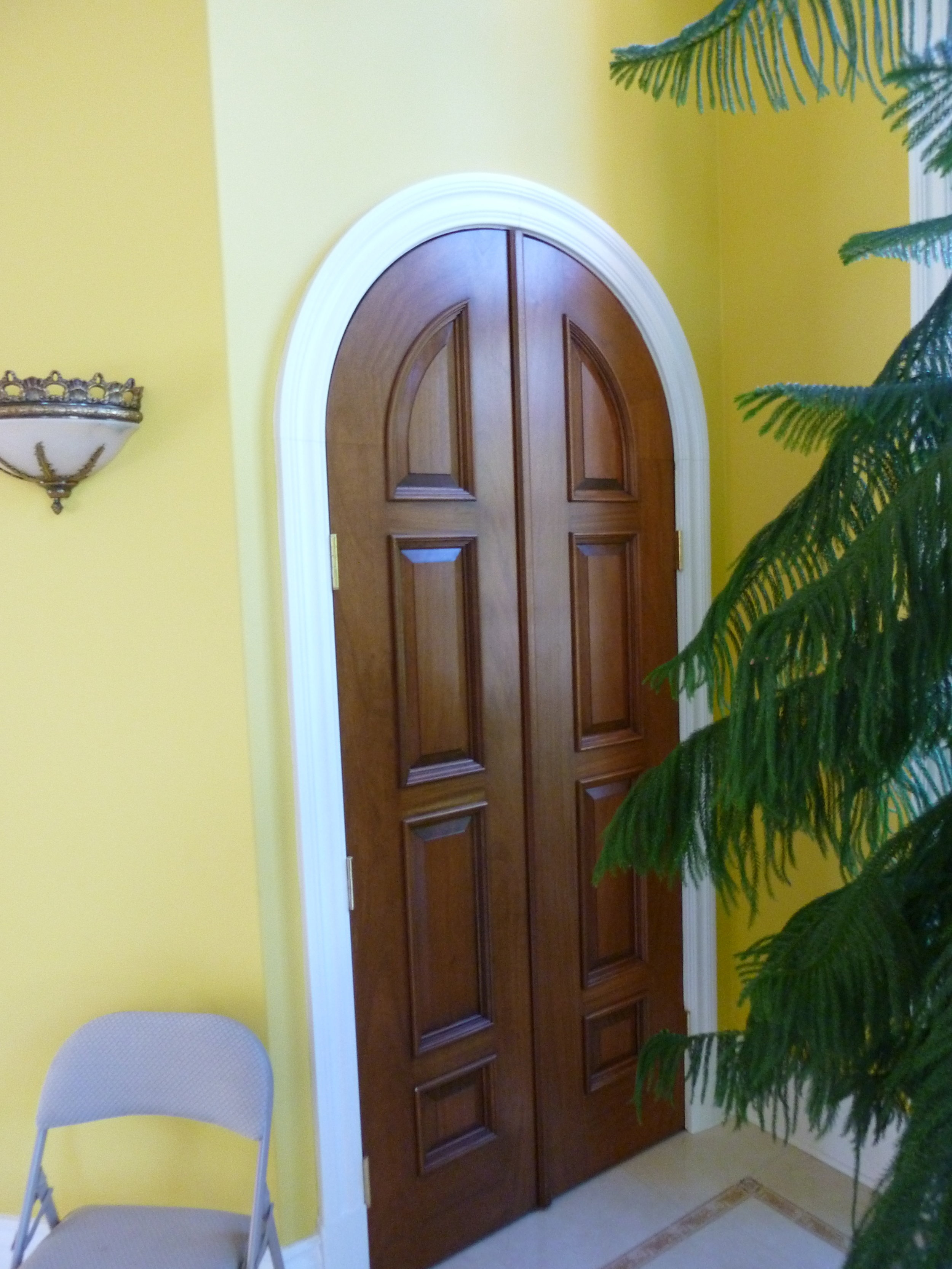 Arched Mahogany Double Doors