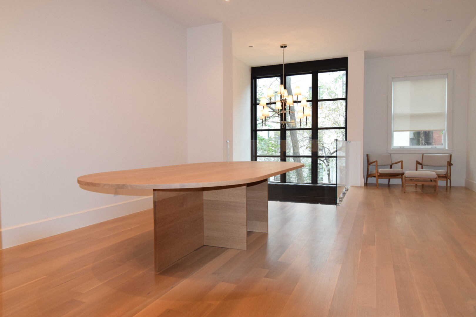 Custom Oval White Oak Table