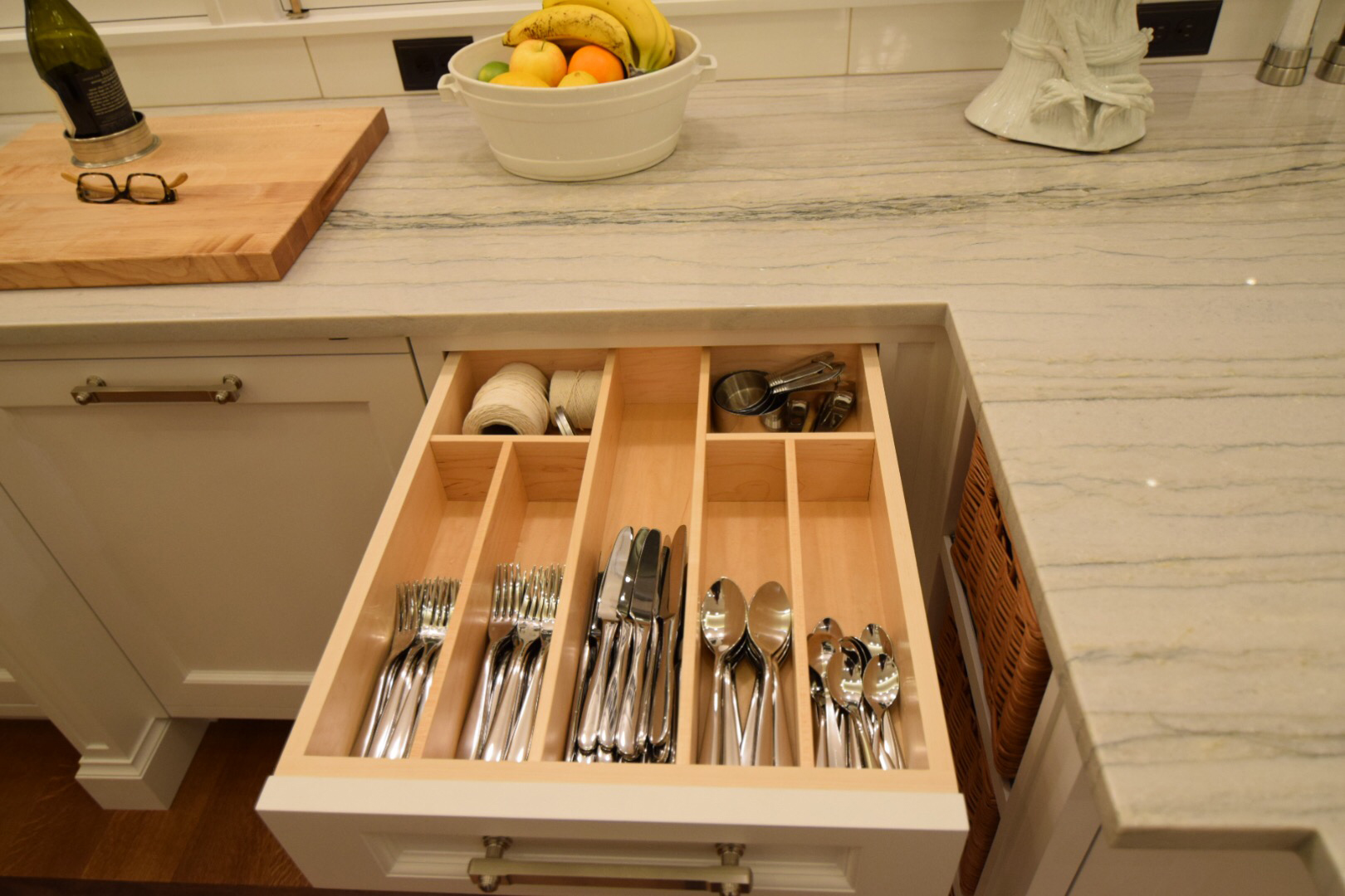 Custom-made Solid Maple Drawer Dividers