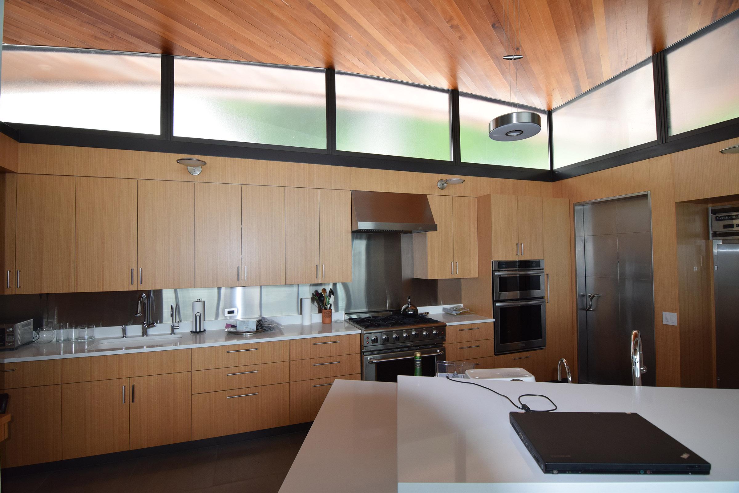 Rift Anigre Custom Kitchen Cabinets