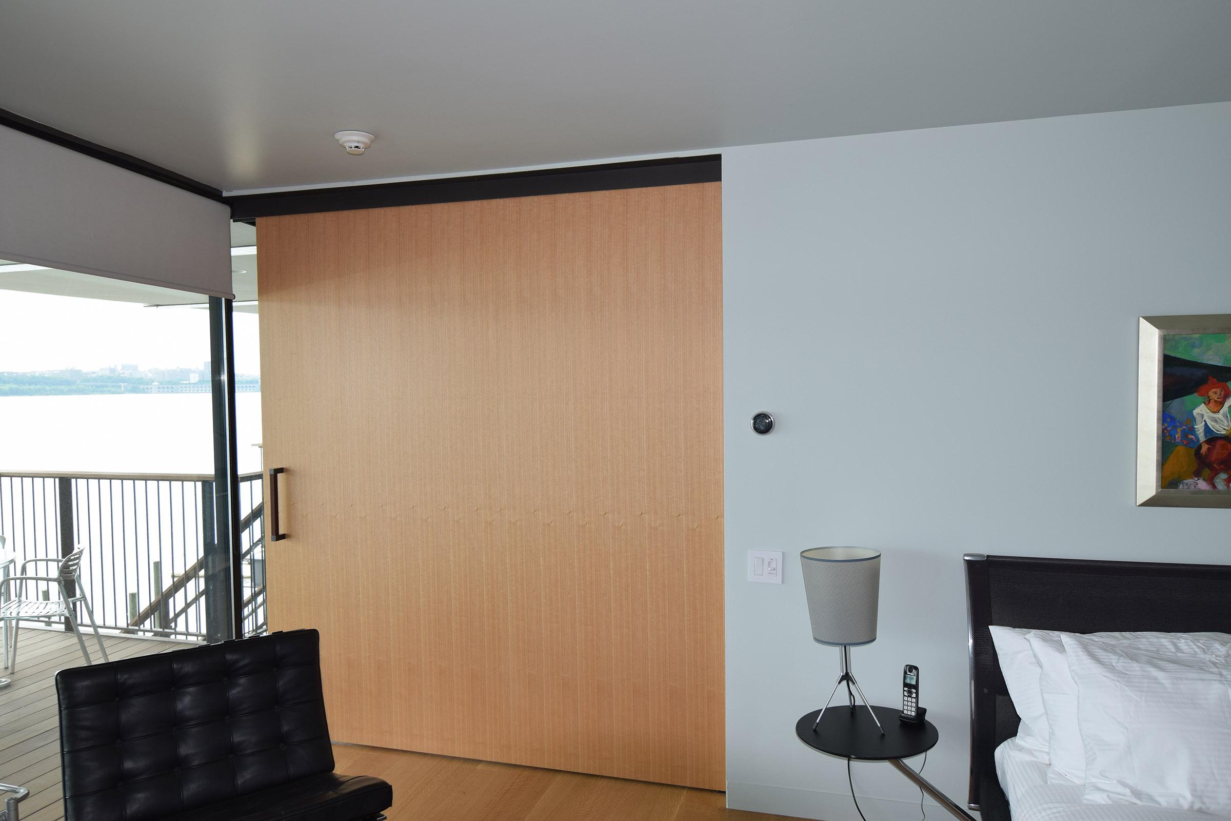 Custom Rift Anigre Pocket Door