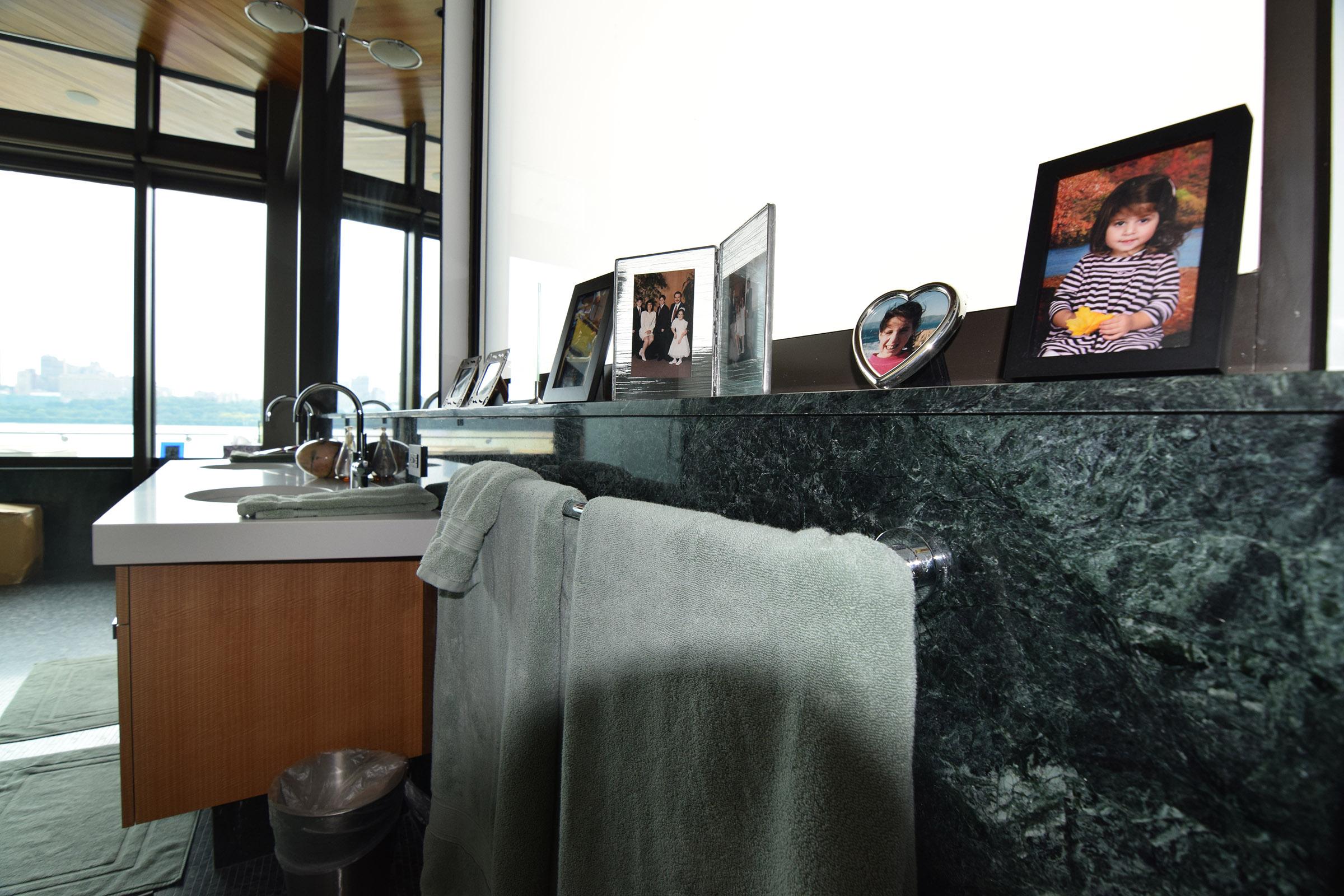 Rift Anigre Custom Bathroom Vanity