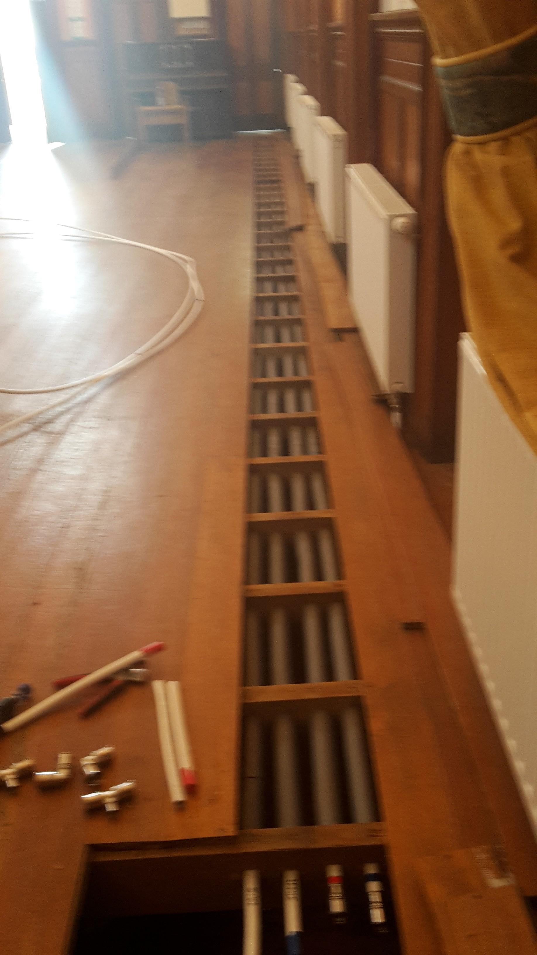 Discreet pipework hidden underfloor