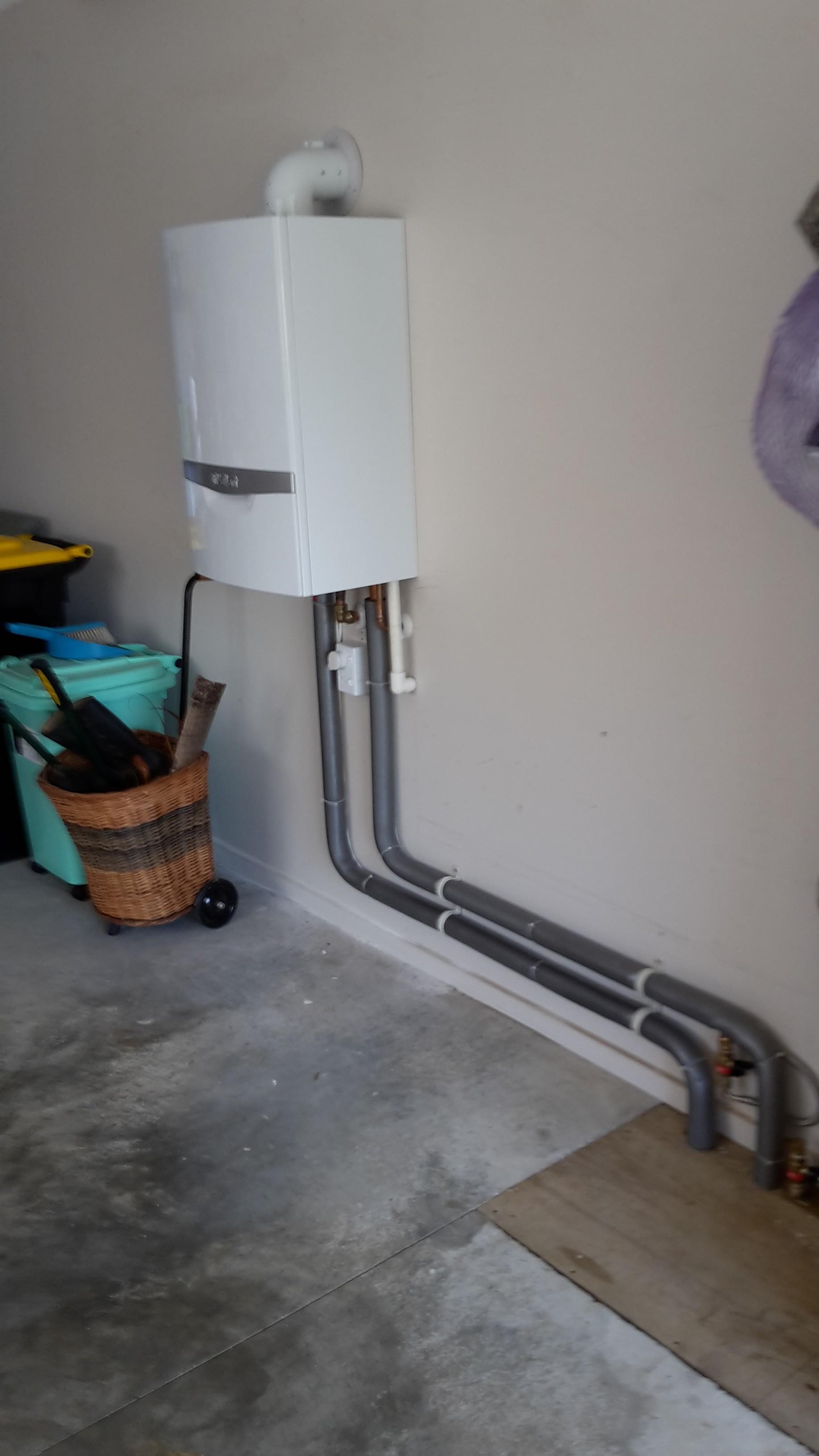 Boiler placed in garage