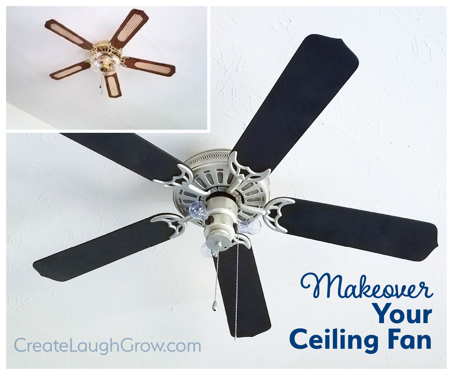 How To Makeover Your Ceiling Fan DIY