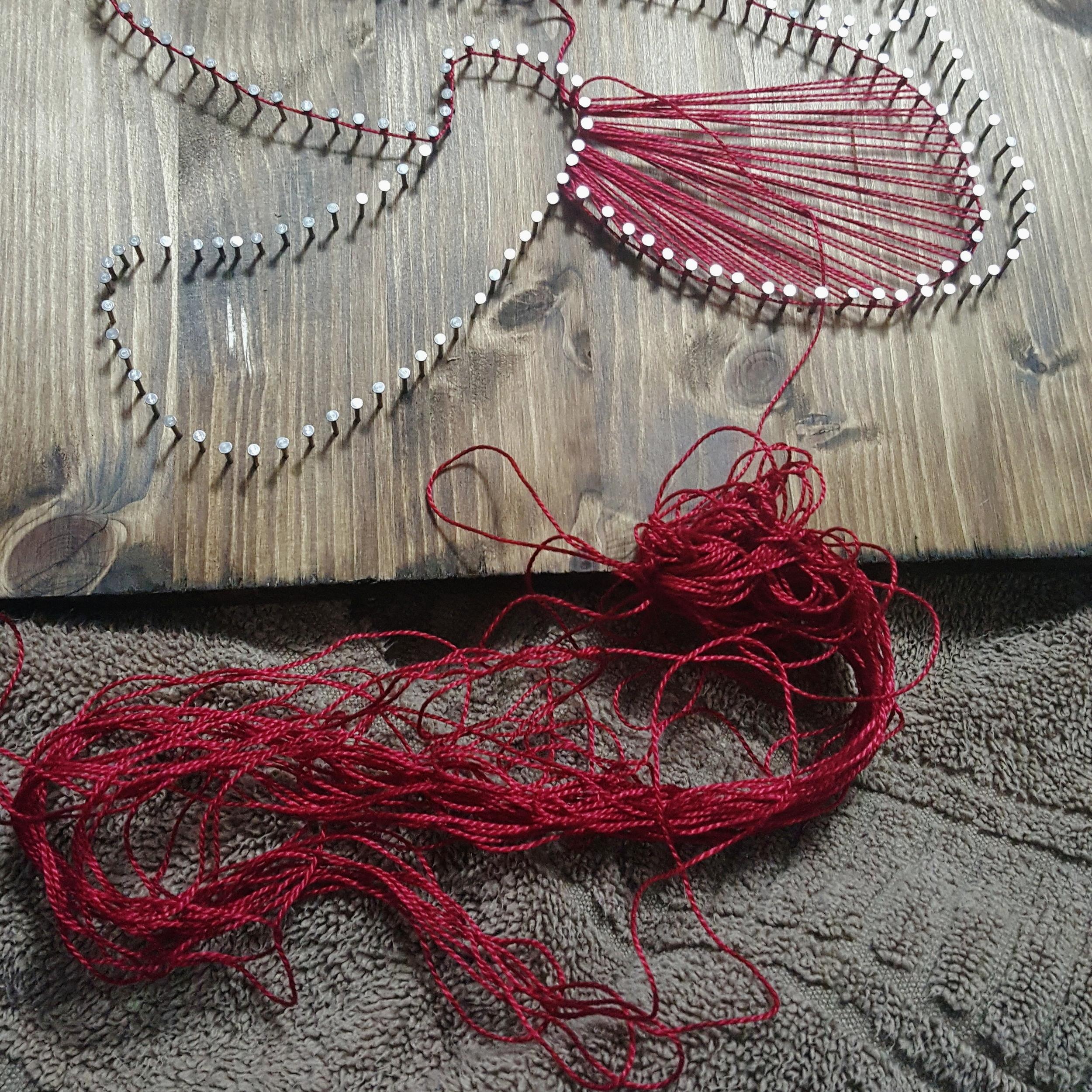 Mushroom String Art Tangled Thread