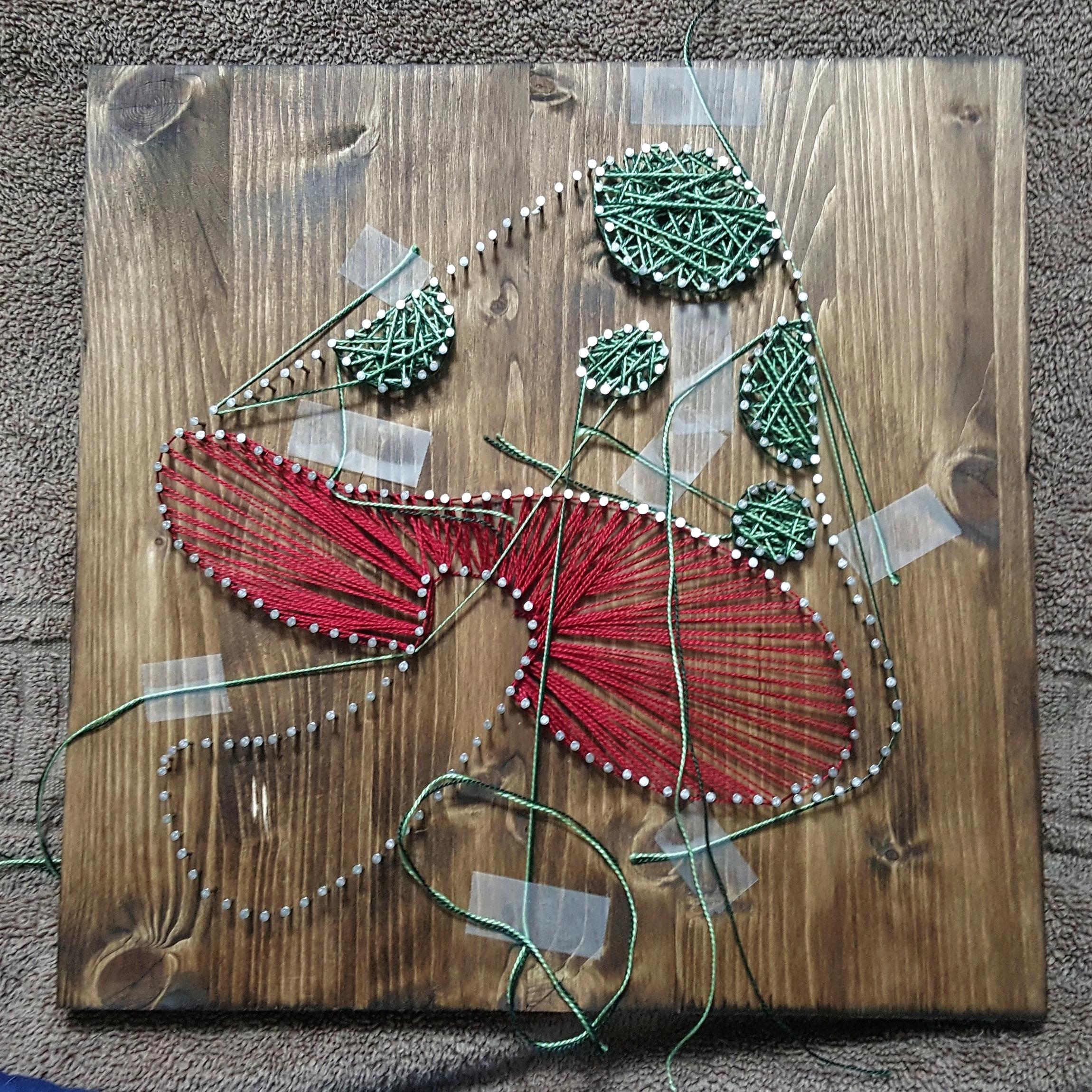 Mushroom String Art Spots