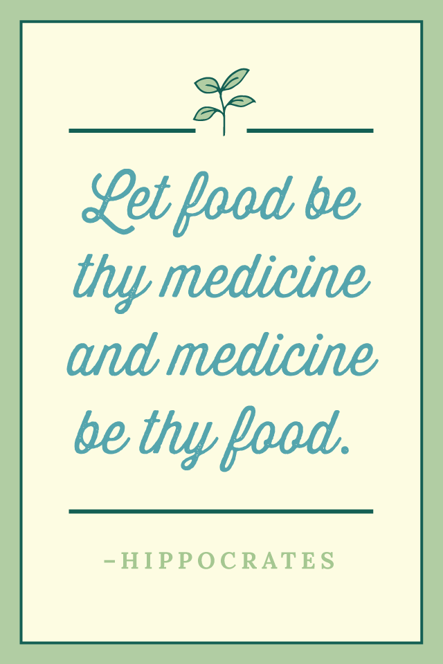 Hippocrates said this as early as 400BC