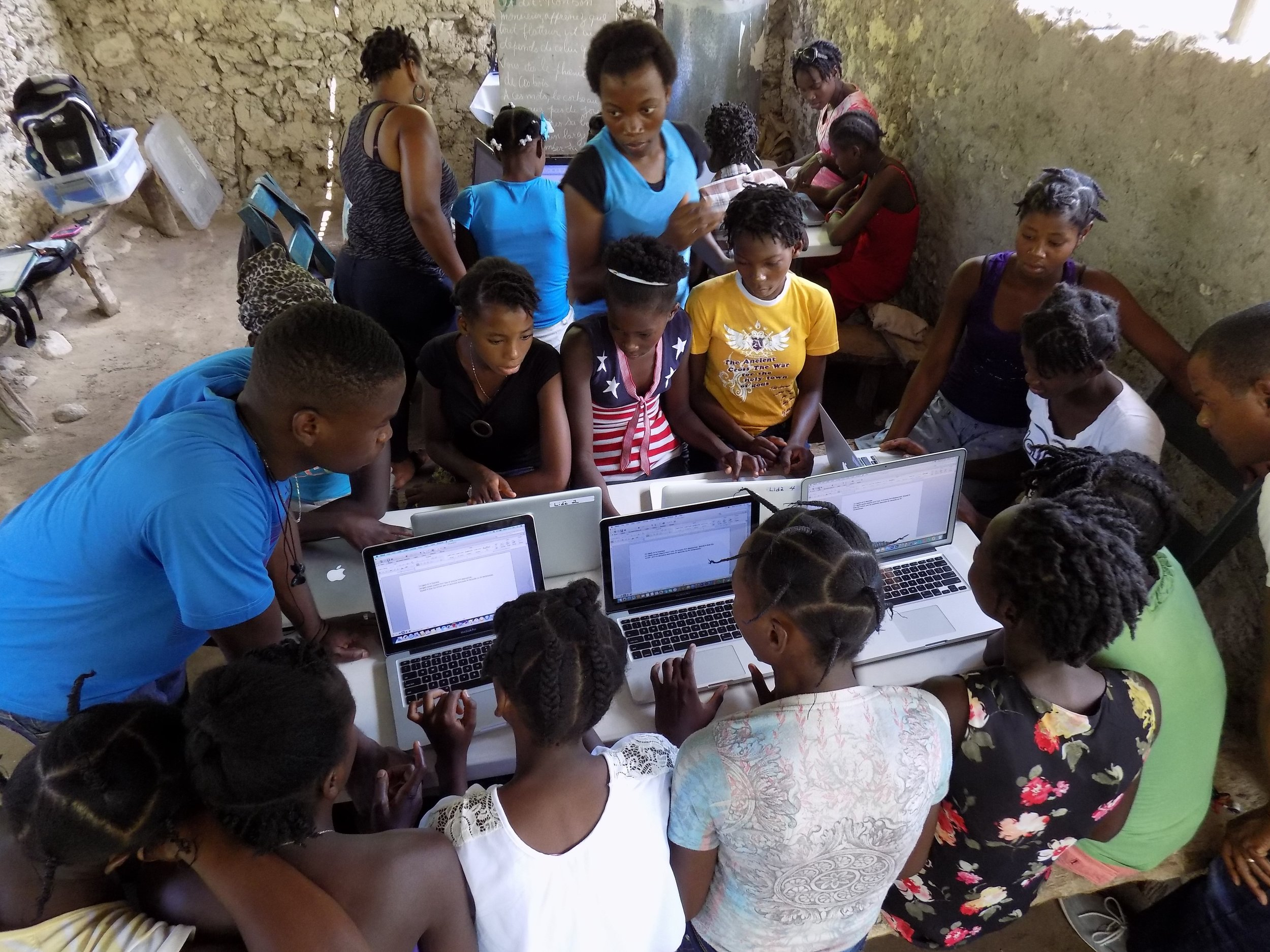 Our mobile computer labs teach computer skills to girls who would otherwise have no access to computers; skills imperative to a professional career path.