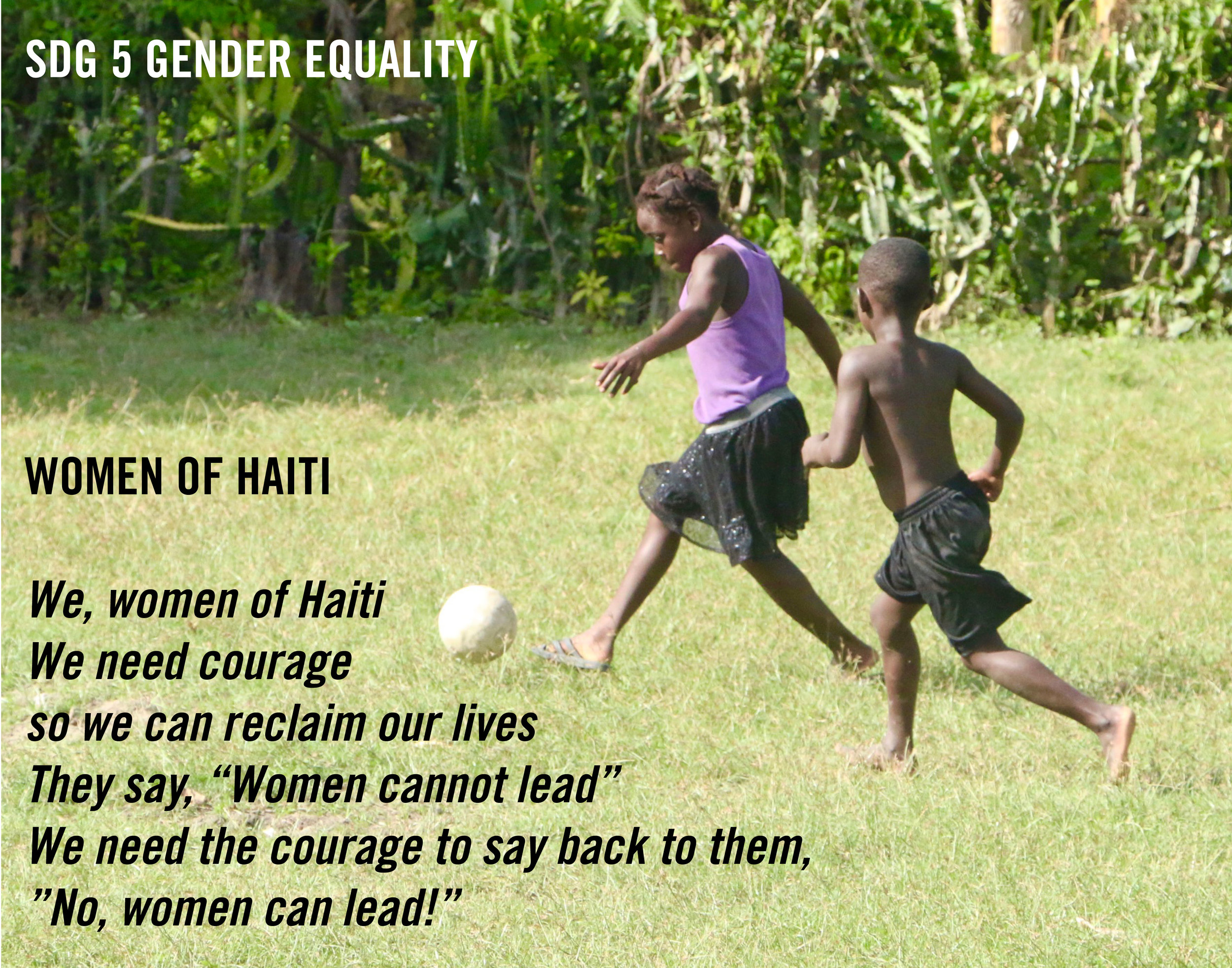 Poetry by Junia, age 16, Gonaïves, Haiti