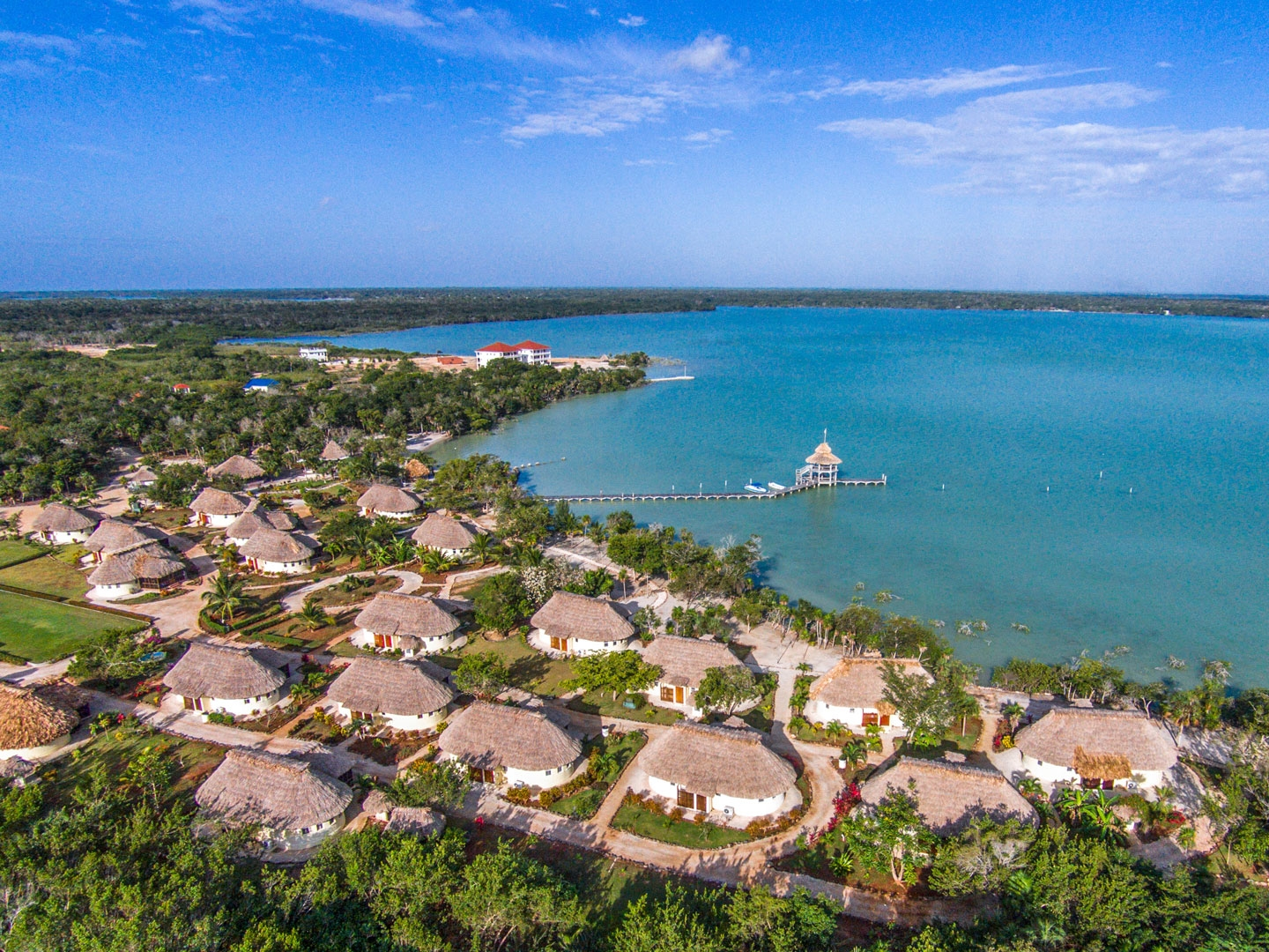 Orchid Bay's Casita product overlook the Bay of Chetumal