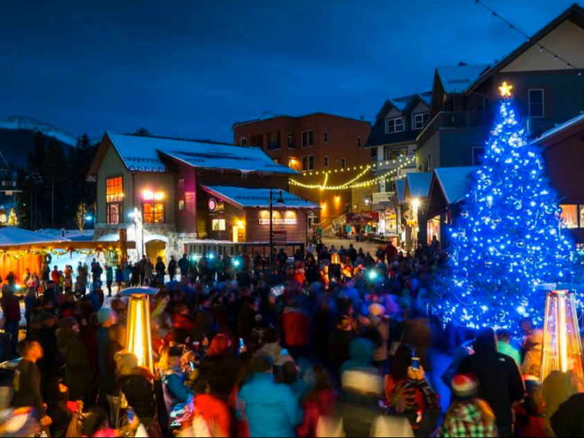 Evening in the Village at Winter Park Resort