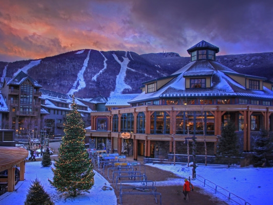 Stowe's new Spruce Camp lodge anchors the new base village