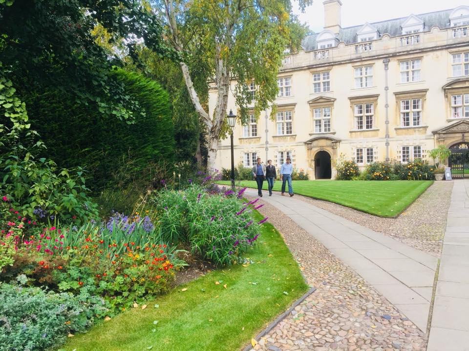 On the way to Matriculation Photos:) These gardens!