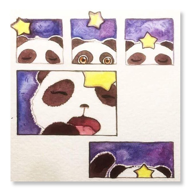 This is a sneak peek at a picture book I've been working on - the origins of the Panda Cub! *flies away*