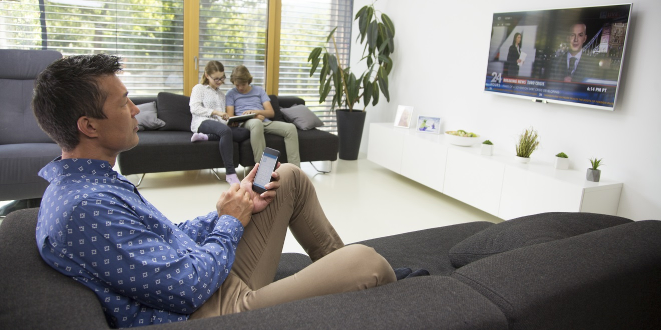 81% of people  use another device while they watch  TV.