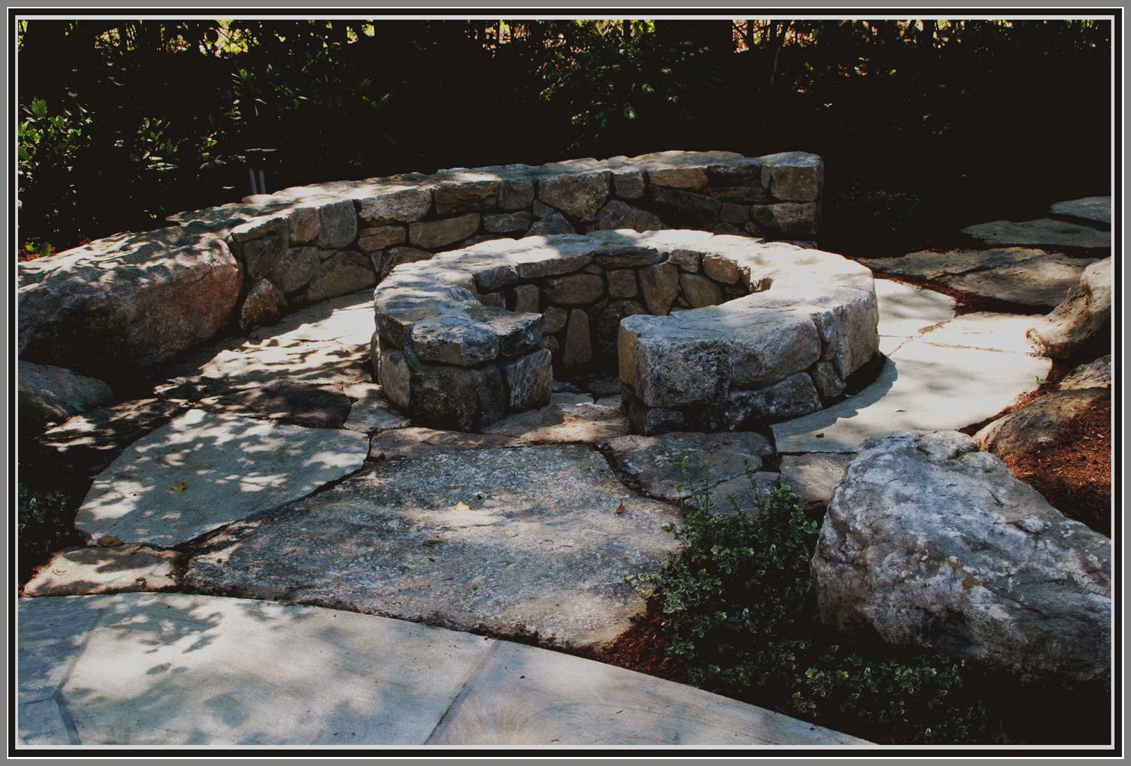Field Stone fire pit