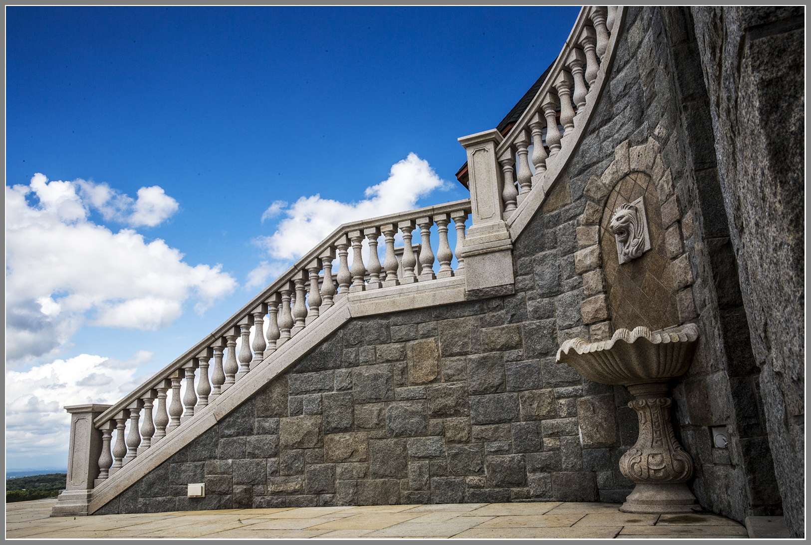 Stair granite balustrade systrem