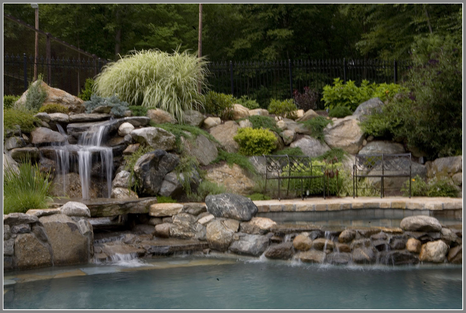Best waterfalls and swimming pool design