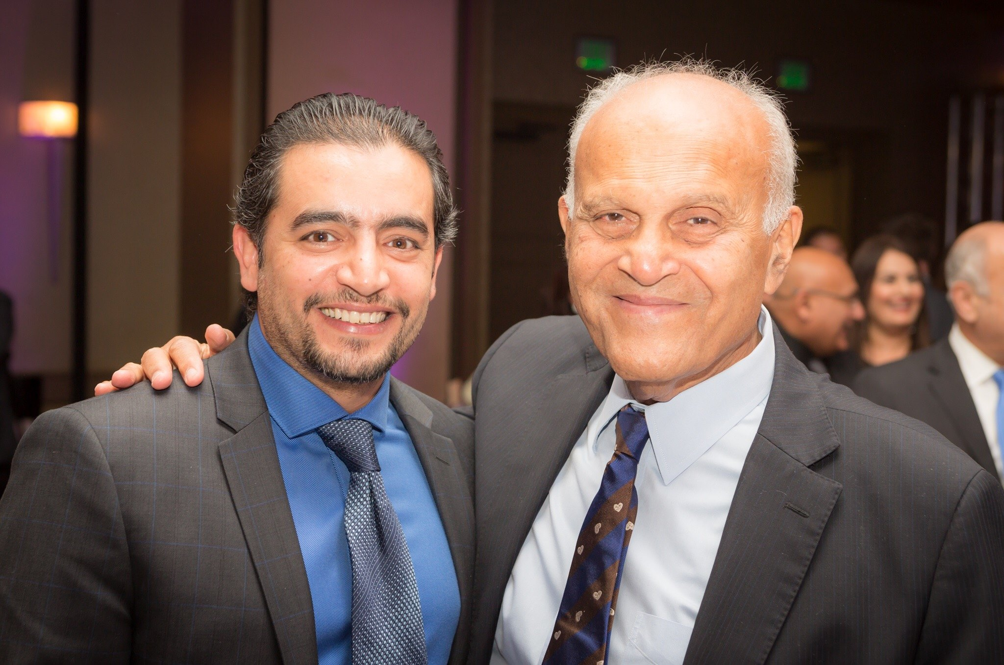 Celebrity guest Hany Salama, Egyptian movie star, attended the event to show his support for the Magdi Yacoub Heart Foundation.