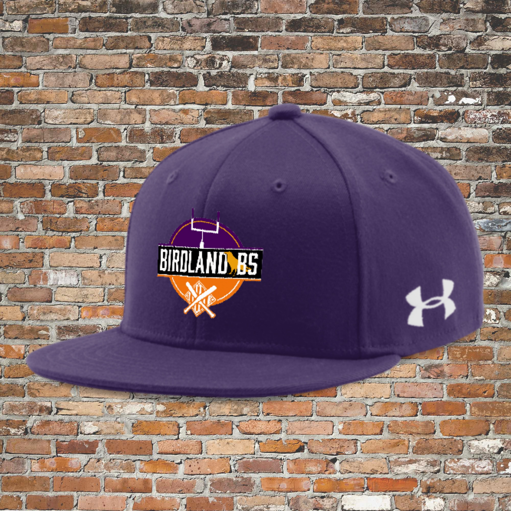Under Armour Flat Bill Cap - Solid (Purple): Click for Special Pricing