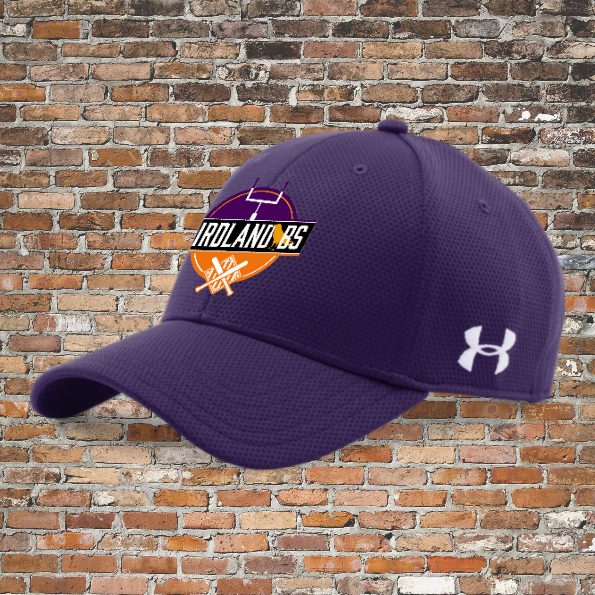 Under Armour Men's Curved Stretch Cap (Purple): Click for Special Pricing