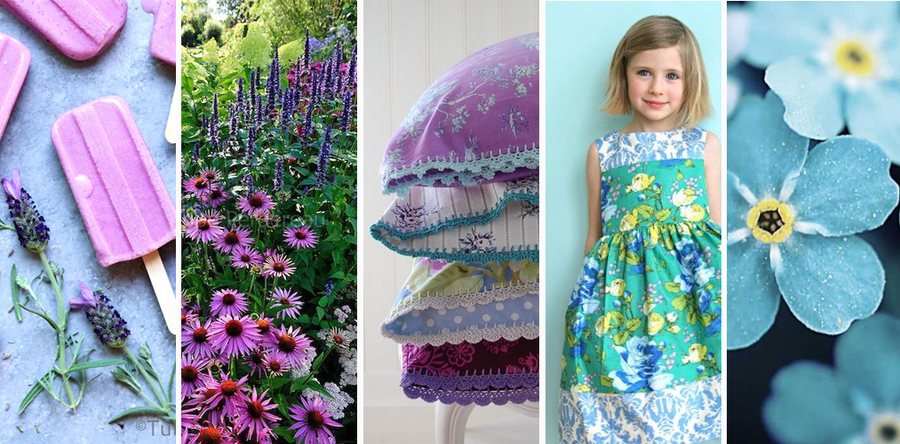 popsicle ,  echinacea ,  pillowcases ,  dress ,  blue flowers