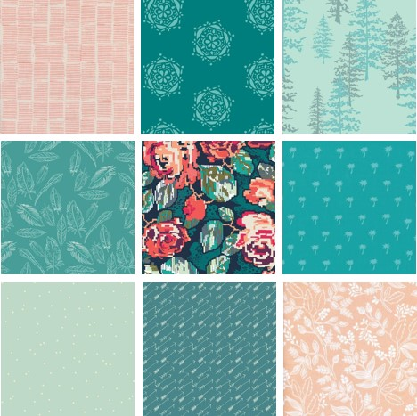 Teal and Dusty Rose by  Meadow Mist Designs