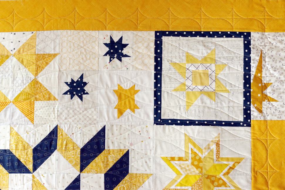Diamond Wave edge to edge quilting and Grip border