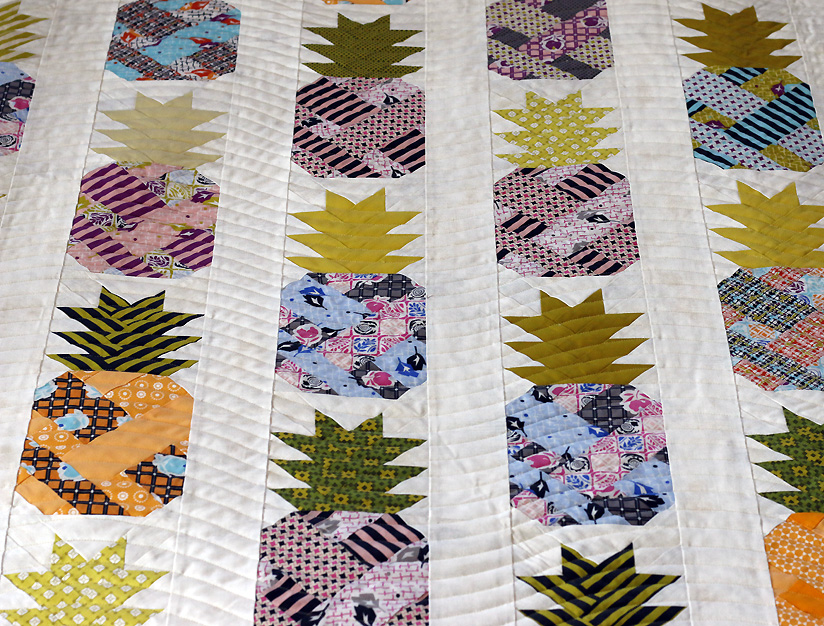 Wave quilting on pineapples.jpg